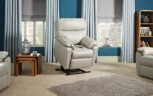 G Plan Henley Leather Dual Elevate Chair