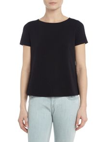 Max Mara Multi e short sleeve jersey top with crew neck