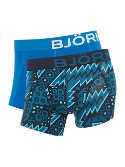 2 Pack of Nordic Print and Plain Trunks