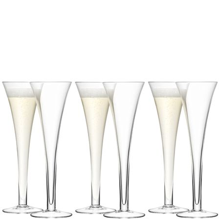 LSA Hollow Stem Champagne Flute, 200ml, 6 for 4