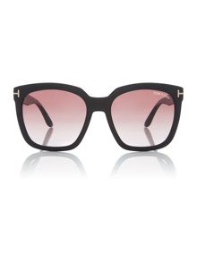 Tom Ford Sunglasses Shiny black FT0502 pilot sunglasses