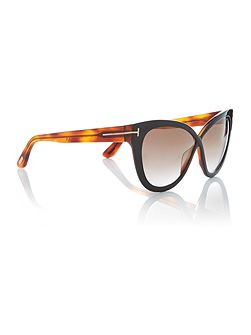 Tortoise FT0511 ARABELLA cat eye sunglasses
