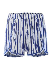 Linea Stripe ladder stitch short