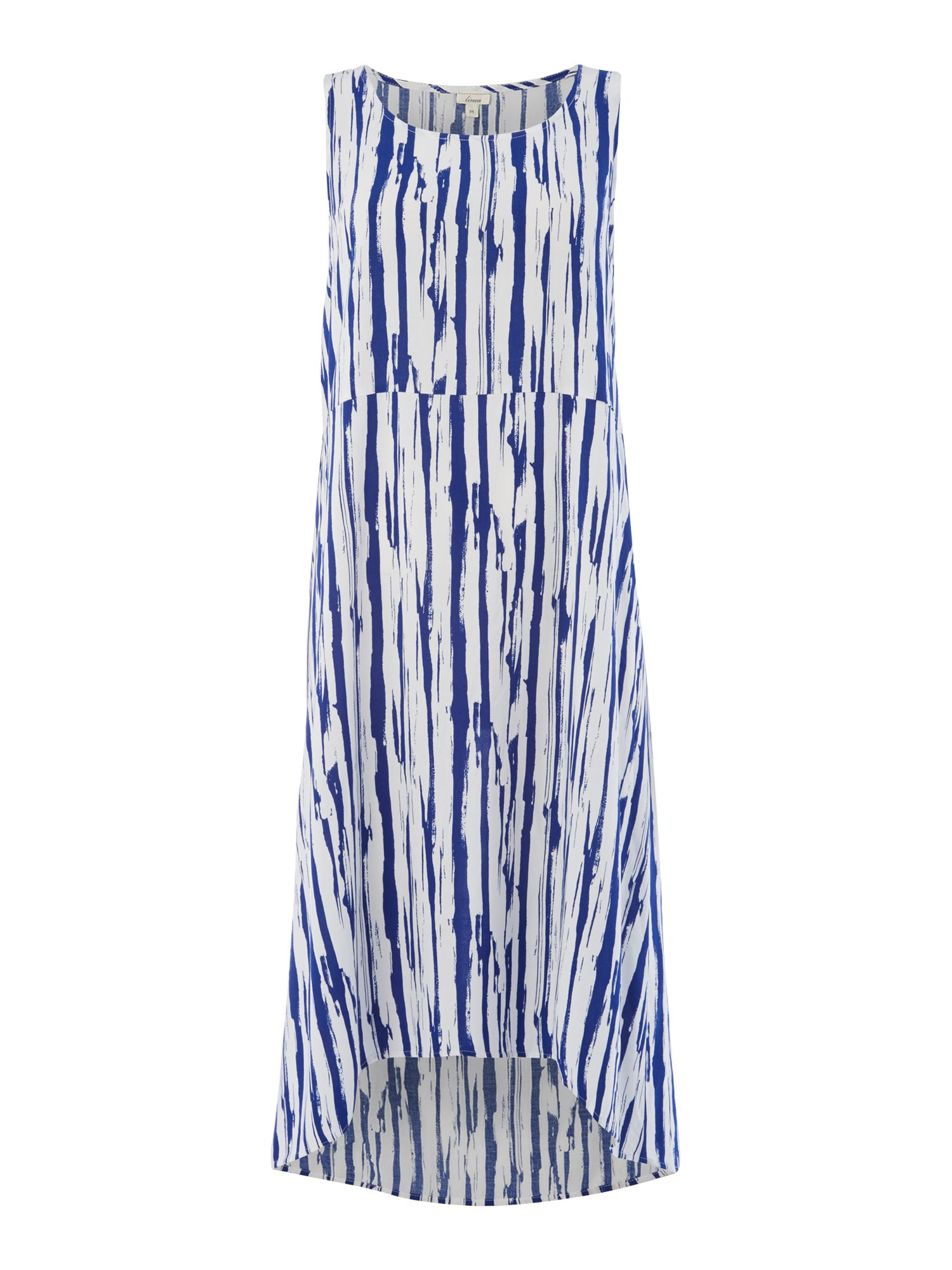 Linea Stripe dip hem maxi dress, Royal Blue