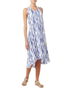 Linea Stripe dip hem maxi dress