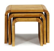 Linea Oak Lounge Nest of End Tables