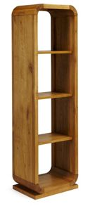 Linea Oak Lounge Open Shelf Unit