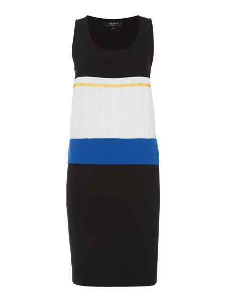 Therapy Keeley pleat front detail dress