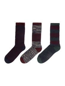 Barbour 3 Pack Kendal Sock Gift Pack