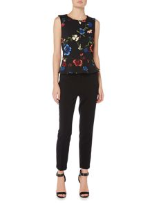 Ellen Tracy Floral peplum top