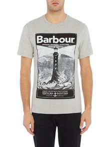 Barbour Large lighthouse print short sleeve t-shirt