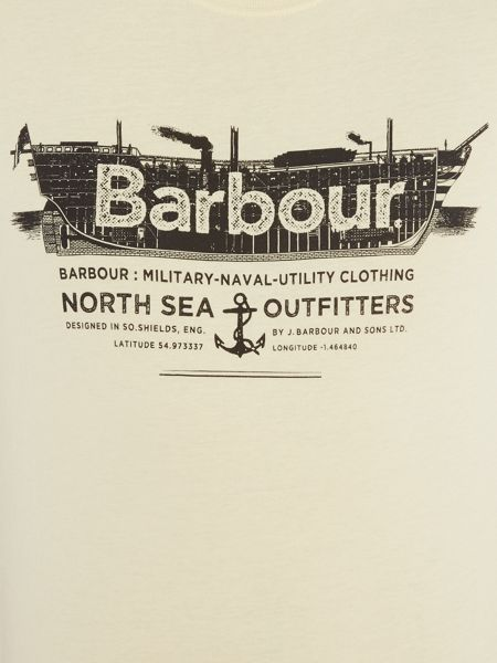 Barbour Military ship naval print short sleeve t-shirt