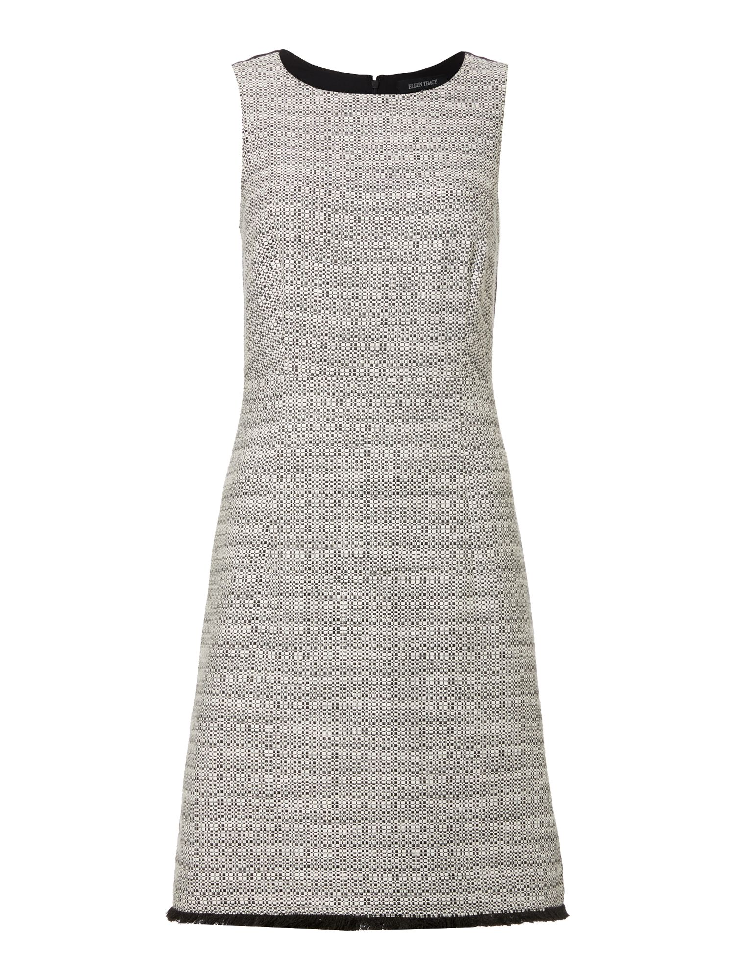 Ellen Tracy Sleeveless tweed shift dress Grey Marl