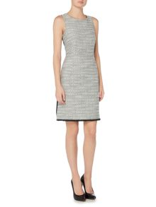 Ellen Tracy Sleeveless tweed shift dress
