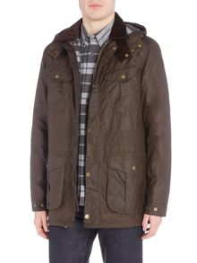 Barbour 4 pocket hooded wax jacket