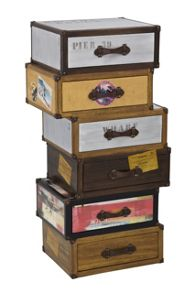 Linea Voyager Tallboy 6 Drawers Trunk