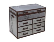 Linea Voyager Trunk Chest 6 Drawers and Top Box