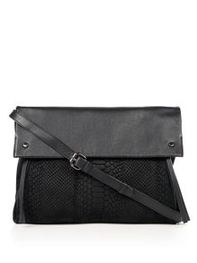 Label Lab Parker mixed leather clutch bag