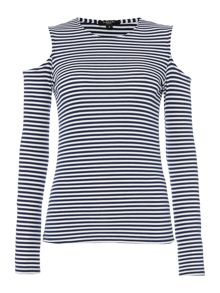 Therapy Eli Cold Shoulder Jersey Top
