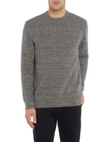 Barbour Mid weight space dye crew neck jumper