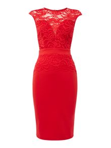 Jessica Wright Cap Sleeve Lace Bodycon Dress