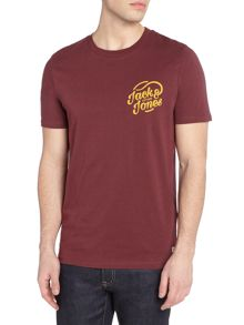 Jack & Jones Large-Logo Crew-Neck Short-Sleeve T-shirt