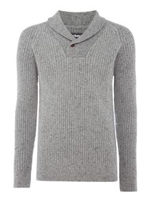 Barbour Shawl neck fleck jumper