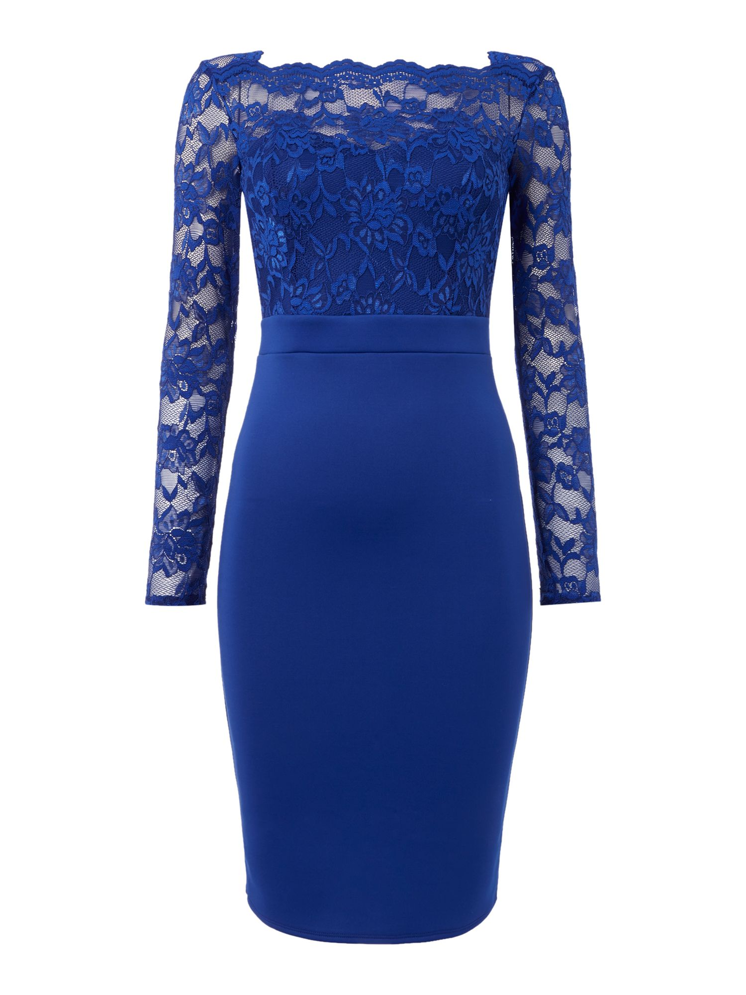 Jessica Wright Longsleeve Lace Bodycon Dress, Blue