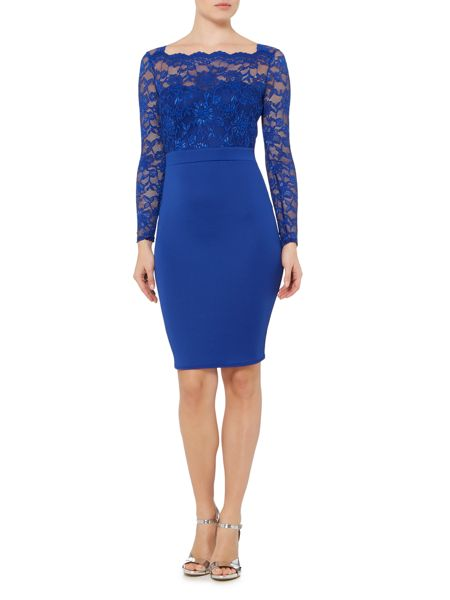 Jessica Wright Longsleeve Lace Bodycon Dress