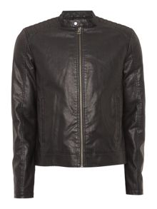 Jack & Jones Zip-Through Biker Jacket