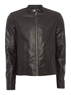 Zip-Through Biker Jacket