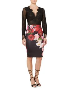 Jessica Wright Midi Floral Skirt