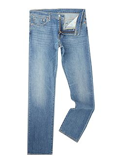 504 Greenville reg straight fit mid wash jeans
