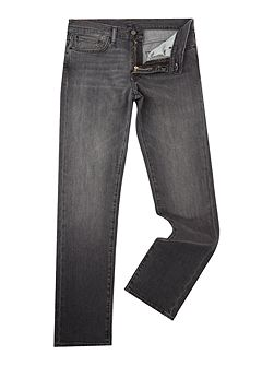 511 Berry Hill slim fit washed black jeans
