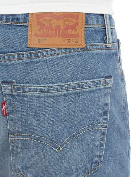 Levi's 511 Thunderbird slim fit mid wash jeans