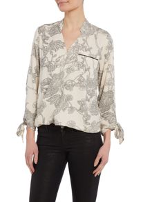 Vero Moda Long sleeve floral wrap top