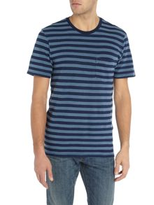 Levi's Regular fit crew neck striped pocket t-shirt