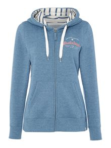 Brakeburn Striped zip through hoody