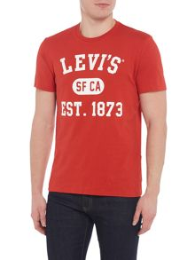 Levi's Regular fit Levi`s slogan print t-shirt