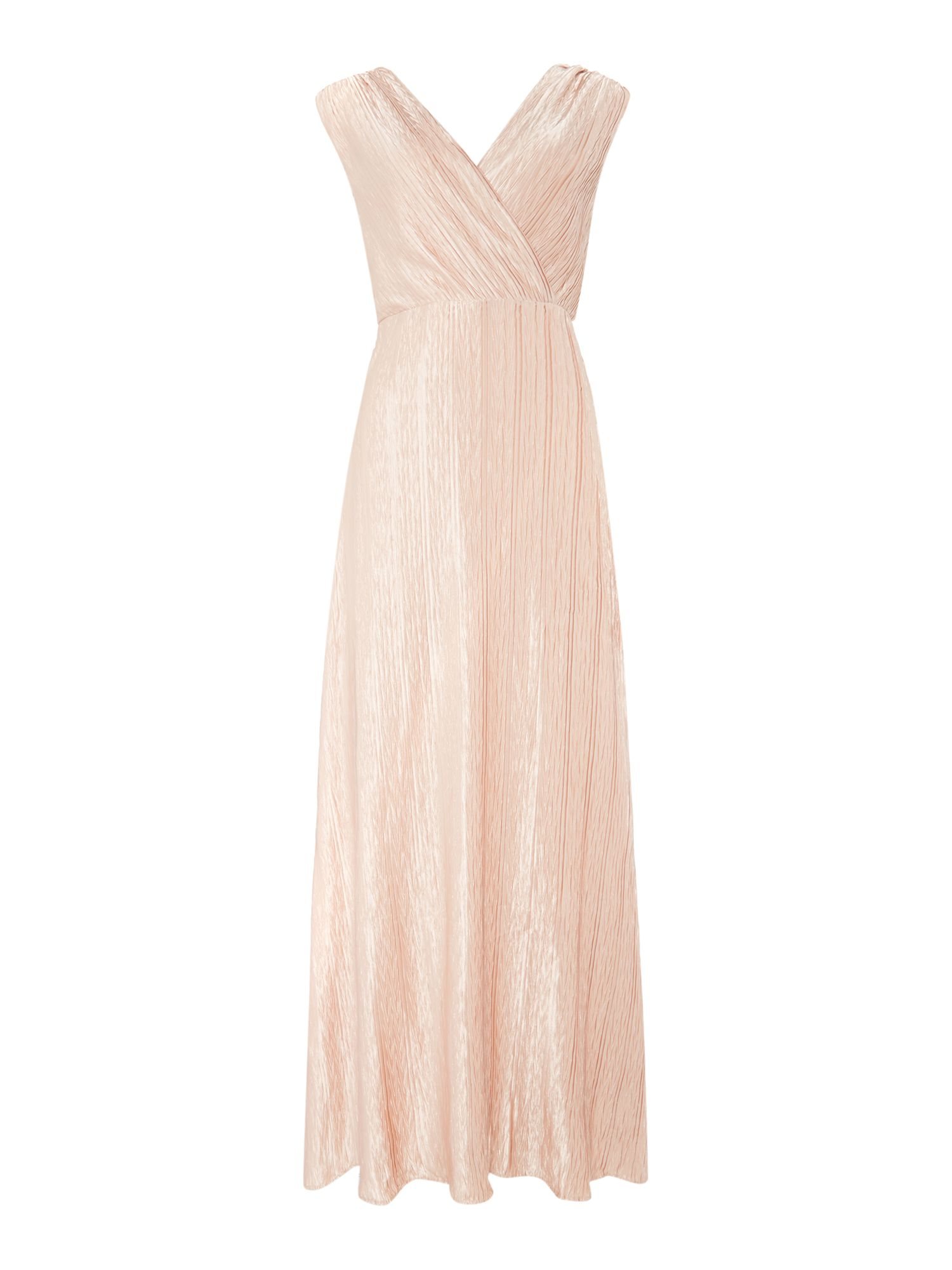 Vero Moda Sleeveless v-neck wrap maxi dress, Pink