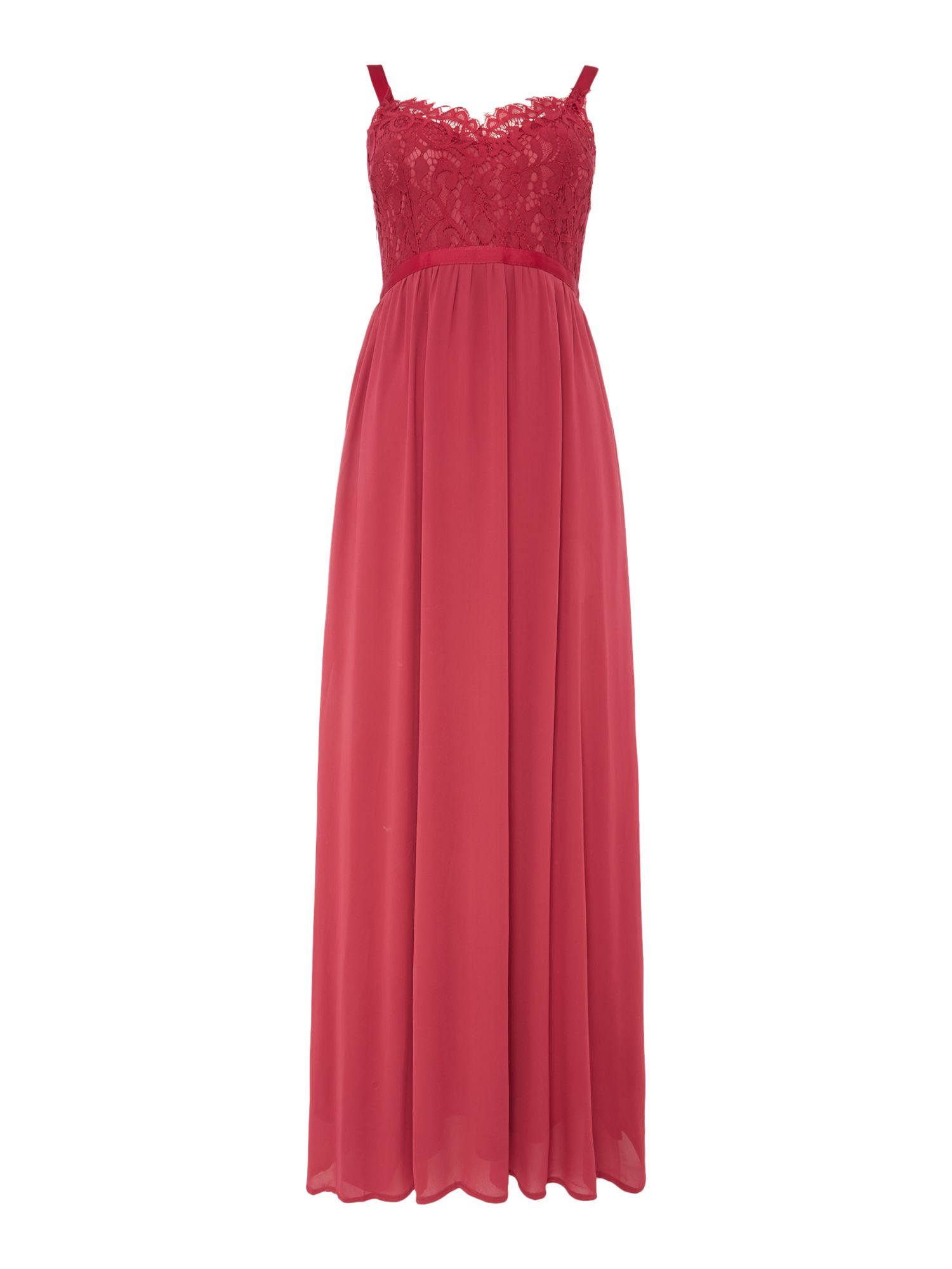Vero Moda Sleeveless cami maxi dress, Red