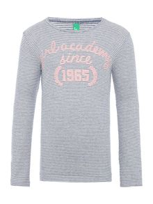 Benetton Girls Long Sleeve Striped T-Shirt