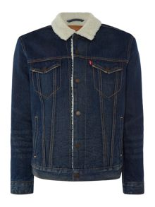 Levi's Type 3 fleece lined denim sherpa jacket