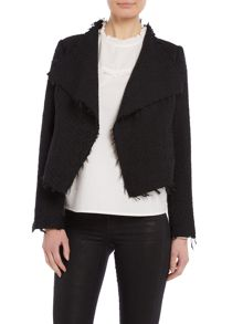Vero Moda Double breasted long sleeve frayed blazer