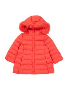 Benetton Girls Longline Padded Coat
