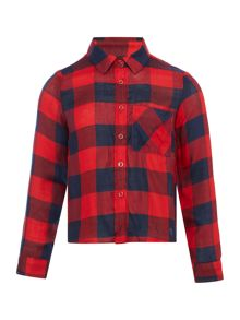 Benetton Girls Checked Shirt