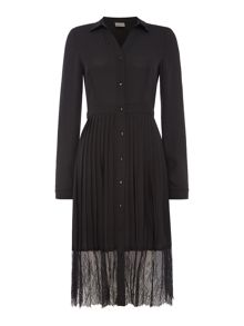 Vero Moda Long sleeve pleated lace bottom dress