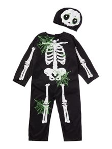 Travis Designs Boys Skeleton Halloween Fancy Dress