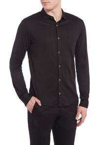 Armani Jeans Regular fit mercerised cotton long sleeve shirt