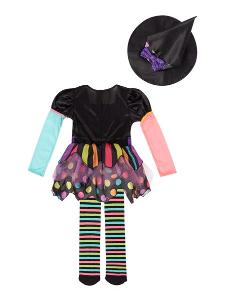 Travis Designs Girls Miss Matched Witch Halloween Fancy Dress
